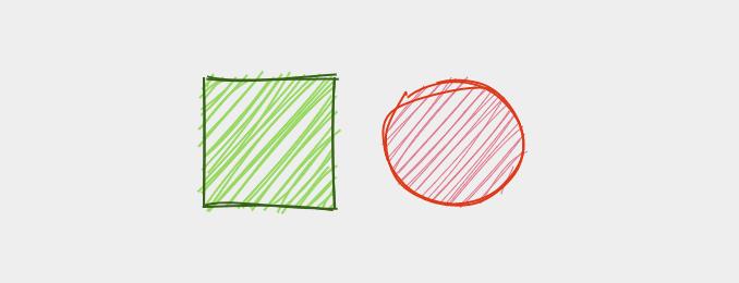 Rough.jsで描画した簡単な図形
